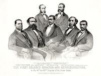 First African American Senator and Representatives Poster Reconstruction Era 187