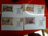 1994  MENZIES WA  CENT POSTMARK  ON SET OF 4 DESERT GOLD PSE