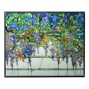 """Ebros Tiffany Wisteria Stained Glass Home Decor Fantasy Collectibles 14.125""""H"""