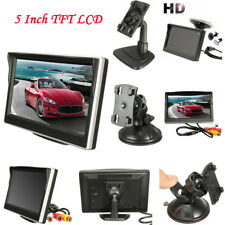 "5"" TFT-LCD HD Screen Car Rear View Rearview Monitor Reverse Backup Camera Black"