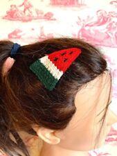 Wassermelone Frucht Haarspange Slide Häkel Strick Sleepie krumme Snap Kurzbalken