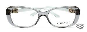 Versace VE 3234 B593 Transparent Gray Eyeglasses New Authentic 51