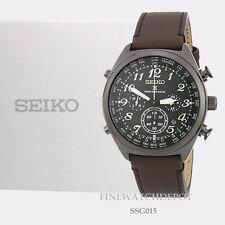 Authentic Men's Seiko Prospex Radio Sync Solar Black Ion Finish Watch SSG015