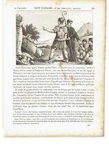 """1825 Santi Sant' Eustachio Placido """"Saint Eustache"""" (Roma Eustathios Eustathius)"""