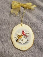2003 Christmas Boehm Northern Cardinals in Winter Ornament, Boehm Home Interiors