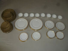 ROYAL DOULTON GOLD LACE 39 PIECE SET LOT PLATES CUPS DINNER SALAD BREAD H 4989