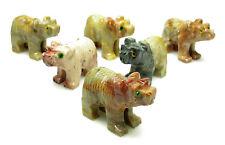 CARVED - Tan DOLOMITE BEAR Spirit Animal Totem with Card - Healing Reiki Stone