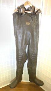 RedHead Bone Dry Mens Chest Waders Green Waterproof Pants Adjustable Strap 13