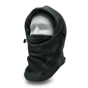 Balaclava Ski Mask 1 hole Full Face Beanie Winter Hat Cap Fleece Trapper Outdoor