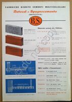 Materiali edili - Brochure pubblicitaria - Betocel - Spugnocemento - Milano '50