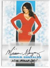 Miriam Gonzalez signed 2014 Benchwarmer Happy Holidays ERROR card