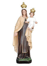 Our Lady of Mount Carmel resin statue cm. 60 with glass eyes