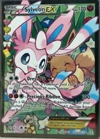 FULL ART Sylveon EX ULTRA RARE Holo Foil RC32/RC32 Pokemon Generations Eevee- LP