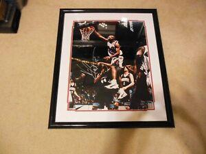 """Vince Carter Autograph 16"""" x 20"""" Dunk Photo Matted/Framed 22"""" x 26"""" Toronto"""