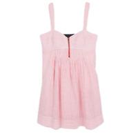 Jessica Simpson Women's 14 Pink & White Pinstripe Sweetheart Neckline Dress