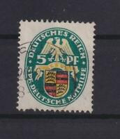 DR 398 X Wappen 5 Pfg. Wasserzeichen X gestempelt Kurzbefund (kt51)