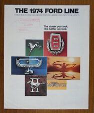 Ford Orig 1974 Usa Mkt folleto de ventas-Thunderbird Mustang Torino Pinto Etc