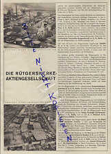 BERLIN, Werbung 1931, Die Rütgerswerke AG Teer-Destillation Imprägnier-Anstalt