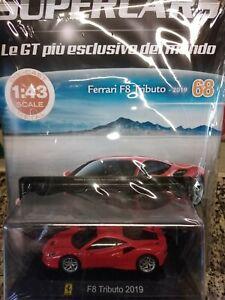 FERRARI F8 TRIBUTO 2019 SUPERCARS GT C. 1:43 #68 - DIE CAST MIB