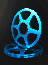 """ONE PAIR   New  10.5"""" Anodized  Aluminum metal Reels   BLUE"""