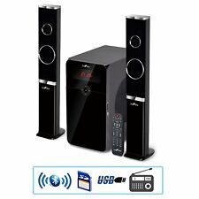 2.1 CHANNEL HOME THEATER SURROUND SOUND BLUETOOTH SPEAKER SYSTEM LED LIGHTS USB