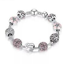 Bettelarmband 925 Silber Pl. Beads Armband Charms Armband Schmuck Damen Armband