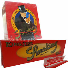 50 SMOKING RED King Size 110mm x 53mm Fine Weight Rice Rolling Papers