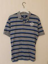 Official QPR Queens Park Rangers FC Grey,  Stripe Polo Shirt Size Mens Medium/L