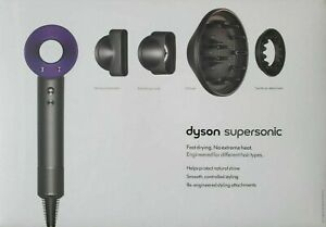 Dyson Supersonic Hair Dryer in Purple / Nickel with Attachments