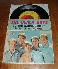 """BEACH BOYS Orig 1965 """"Do You Wanna Dance"""" 45 & picture sleeve VG++"""