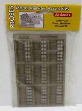 Proses D-002 - Laser Cut Door, Windows Structures - 6 Pane, Double Garage Doors
