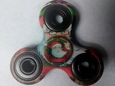 Fidget Spinner Santa Clause hand painted & 3D wrapped 2 sided Heavy Weight USA