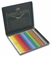 Faber-Castell Polychromos Pencils Tin Set of 24 - Assorted Colors