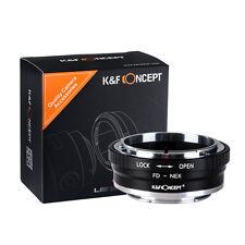 K&F Concept FD-NEX Ⅱ Copper Adapter for Canon FD Lens to Sony NEX E Mount Camera