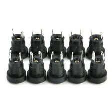 10pcs DC Power Supply Jack Socket Female Panel Mount Connector Tools 5.5 x 2.1mm