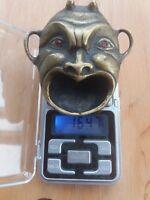 Ancient brass ashtray, devil's head, Satan, demon
