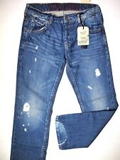 Tommy Hilfiger denim men's collection size 34x32 ripped fray regular button fly