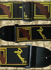 Correa Guitarra Strap Bajo... - FENDER Bordado (Monogram) - ORO/NEGRO