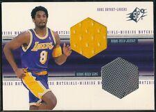 1999-00 UPPER DECK SPX KOBE BRYANT WINNING MATERIALS JERSEY/SHOE CARD #WM4