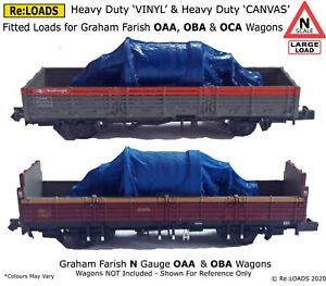 Tarped Covered Sheeted Freight Loads for Farish N Gauge OAA, OBA & OCA Wagons