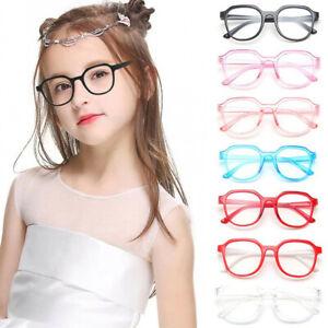 Children's Portable Computer Anti Fatigue Blue Light Goggles Retro Eyeglasses