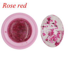 1 Bottle Natural Dried Flowers Series Nail UV GEL Polish DIY Manicure Decoration Rose Red