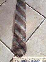 Robert Talbott Brown Striped Mens Silk Neck Tie