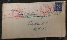 1947 Us Zone Germany Civil Censorship Cover To Trenton NJ USA