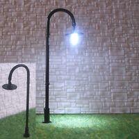 S317 - 10 Stück LED Straßenlampen Bogenleuchten schwarz 6,5cm Bogenlampen