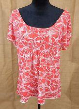 Lucy women XL short sleeve floral shirt
