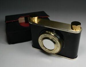Vintage Compact Minaudiere Lipstick Lighter Trompe L'oeil Camera  1960's Unused