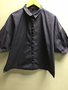Women's Navy Blue COS Shirt Work Shirt UK 12 EUR 40