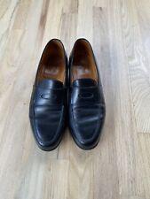 John Lobb Lopez Classic Black Penny Loafers Dress Shoes 8.5 E