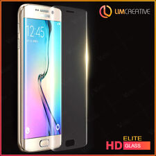 For Samsung Galaxy S6 Edge Full Curved Tempered Glass Screen Protection Clear HD